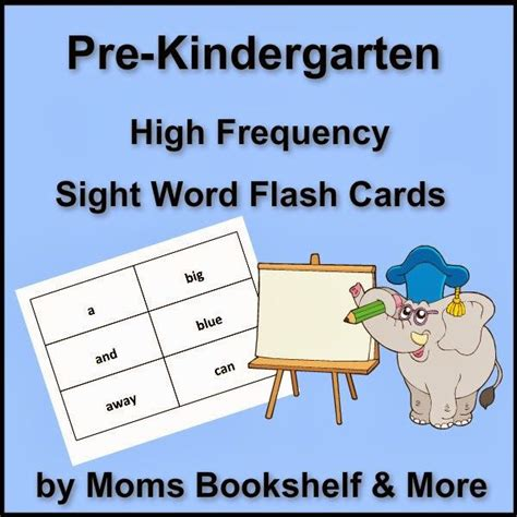 libro sight words flash pre kindergarten sight word flash cards via moms bookshelf more educational