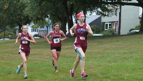 junior high girls athletics sports juniors lead girl harriers to 3 1 dreary tuesday