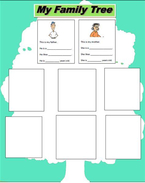 family tree exercise printable my family tree exercise learning english basics