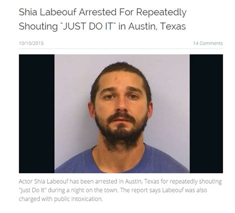 Shia Labeouf Meme - shia labeouf arrested for repeatedly shouting quot just do it