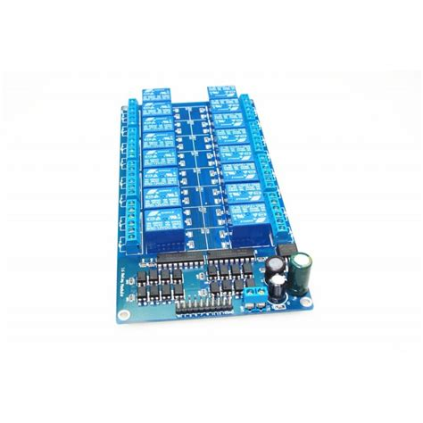 Jual Dc Coupler jual 16 channel relay module optocoupler protection with lm2596 power
