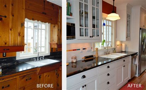 renovate old kitchen cabinets before and after kitchen remodel pictures