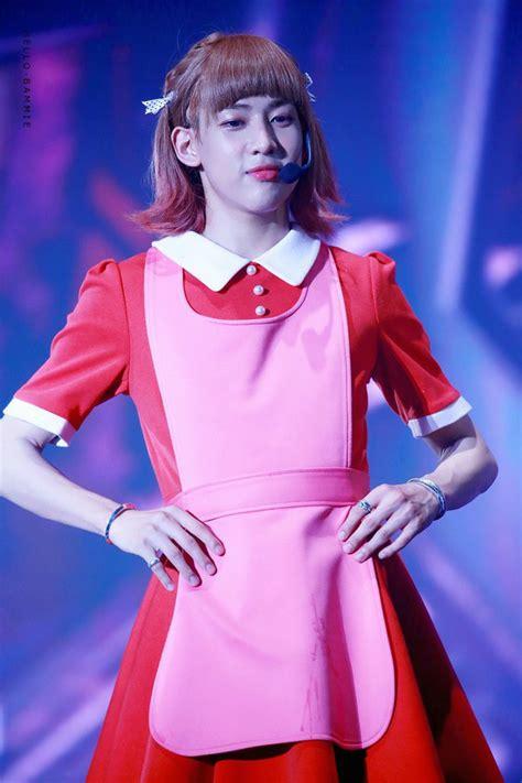 dress got7 yugyeom k pop cosplay bambam red dress