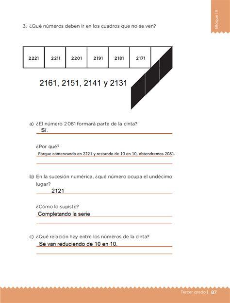 respuestas de la pajina 85 de primaria ayuda para tu tarea de tercero desaf 237 os matem 225 ticos bloque