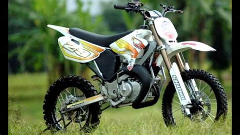 Modif Jupiter Mx Jadi Trail by 80 Modifikasi Motor Trail Suzuki Modifikasi Trail