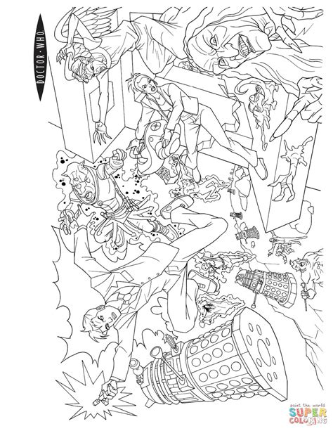 dr who coloring pages doctor who coloring page free printable