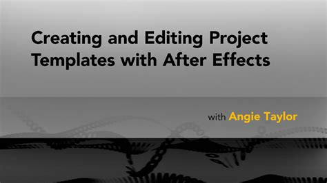 after effects creating project templates