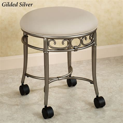 Stool For Vanity by Rolling Vanity Stool Homesfeed