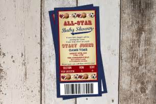 sports baby shower invitation all baby shower ticket