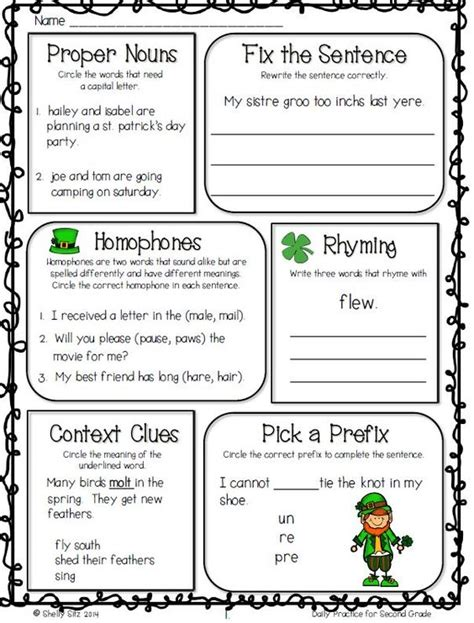 2nd Grade Language Arts Worksheets by The World S Catalog Of Ideas