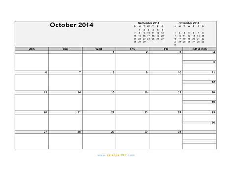 blank calendar template october 2014 october 2014 calendar blank printable calendar template