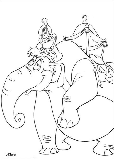 aladdin coloring pages games aladdin s elephant coloring pages hellokids com