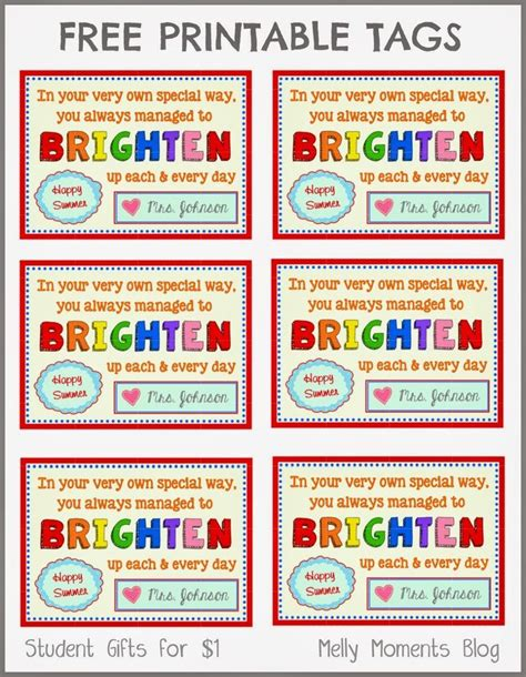 free printable name tags for work free end of year gift tag printables from teacher to