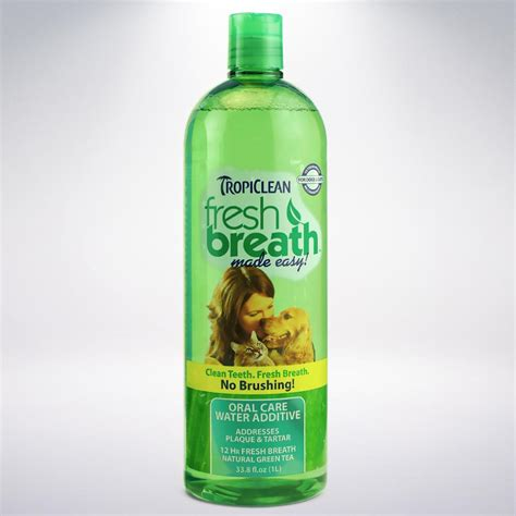 how to freshen dogs breath tropiclean fresh breath plaque remover pet water additive 33 8oz pet