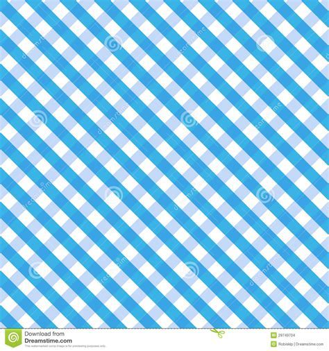 Blue Gingham Stock Images   Image: 29749704