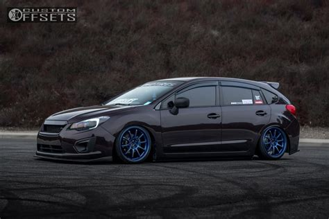 2013 subaru wrx custom wheel offset 2013 subaru impreza tucked air suspension