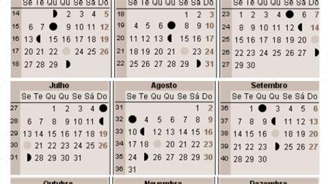 Fases Da Lua 2018 Calend 225 Lunar 2017 A Gravidez