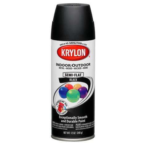 Shop Krylon 12 Oz Black Matte Spray Paint At Lowes