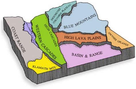 map of oregon regions geologic mining regions in oregon