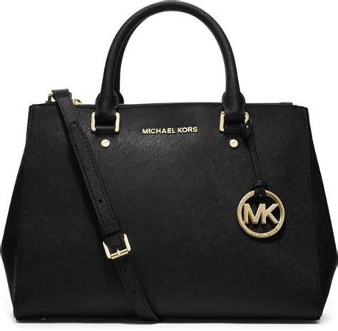 Mk Suitton michael michael kors medium sutton satchel in black lyst