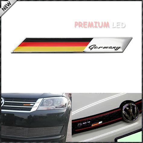 audi germany flag aluminum plate germany flag emblem badge for car front