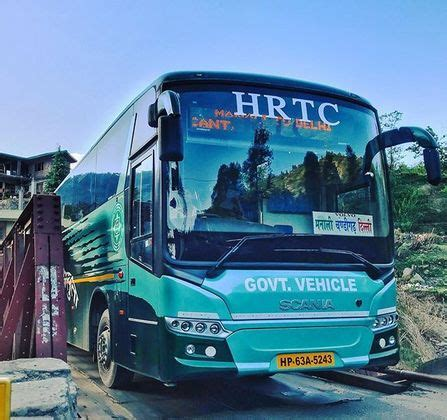 delhi  manali volvo bus route timings fare bus ticket booking cancellation hrtc bus time