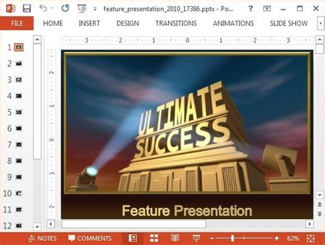 Animated Featured Presentation Powerpoint Template 20th Century Fox Template After Effects