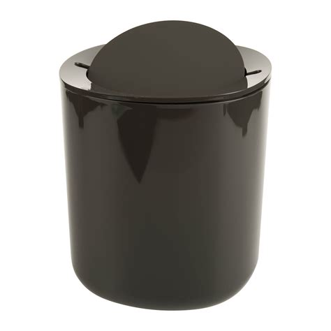 bathroom trash bin buy alessi birillo bathroom waste bin dark grey amara