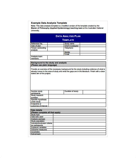 analysis templates  word  documents