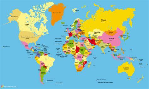mapa mundo actual mapamundi para imprimir