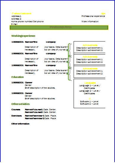 Cv Template Uk 2014 cv template uk 2014 images certificate design and template