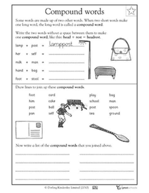 12 best images of 2nd grade compound words worksheets
