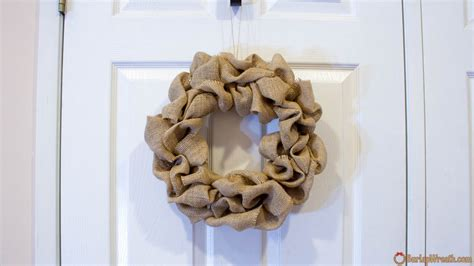 how to make a wreath with burlap how to make a burlap wreath quick tutorial