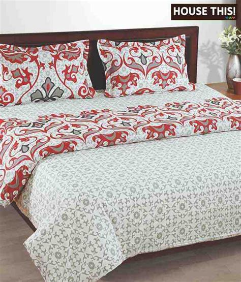 house this mexican print bed sheet with two