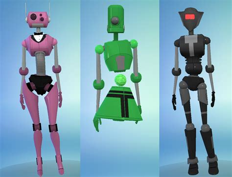 mod the sims robot traits 5 flavors mod the sims plumbots from ts3 13 parts to mix match