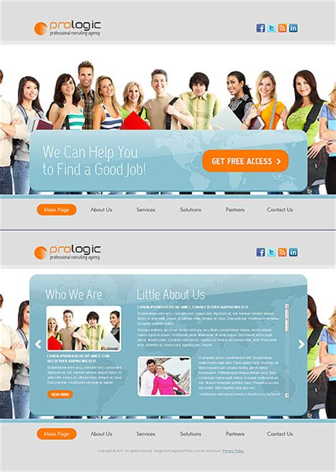 Recruitment Agency Website Template Free Recruiting Agency Html5 Template Best Website Templates