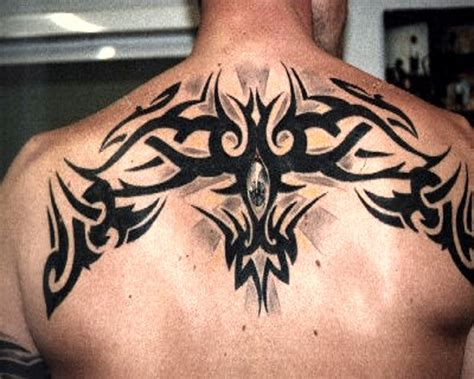 upper back tattoos for men tribal back tattoos for