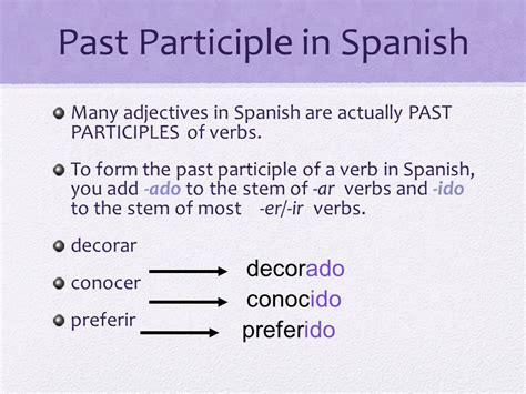 past participles as adjectives ppt download - Decorar In The Past Participle