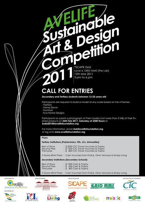 design competition singapore sustainable art design competition by avelife green