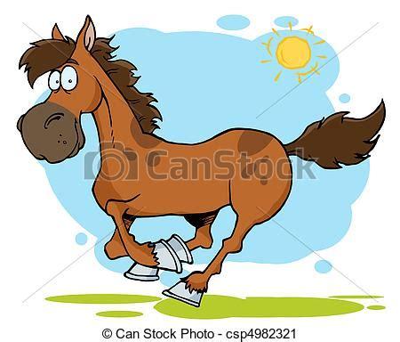 clipart cavallo clipart vettoriali di cavallo cartone animato galloping