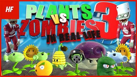 plants vs zombies boxed set 3 plants vs zombies in real 3 by hethfilms