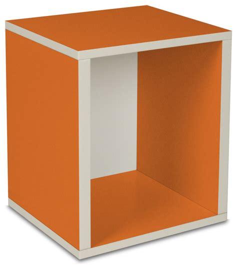 way basics eco stackable storage cube plus orange