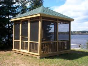 Screen House Plans How To Create A Comfortable Gazebo At Home Home Amp Garden