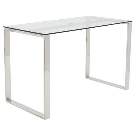 glass and chrome desk modern desks didier polished desk eurway furniture