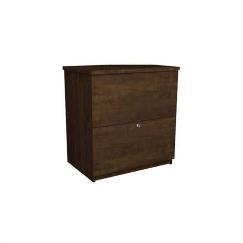Lateral File Cabinet With Storage Bestar 2 Drawer Lateral File Storage Cabinet In Chocolate 65635 2169