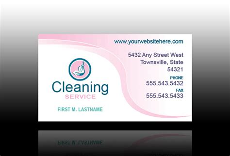house cleaning business cards for free printable house