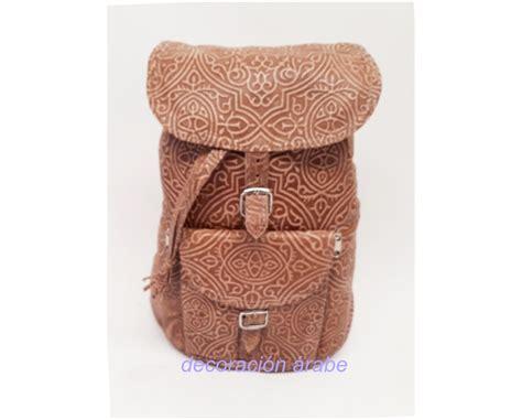 mochilas mujer cuero mochila de mujer de cuero repujado dos colores