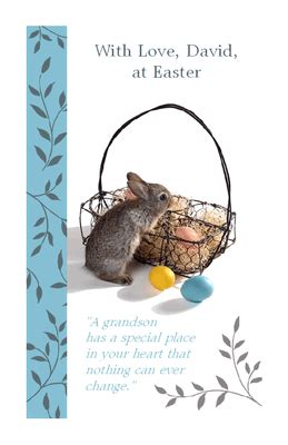 special grandson greeting card easter printable card american