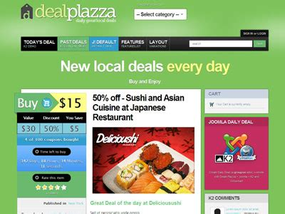 templates for deals website deals plazza joomla coupon template for daily deals