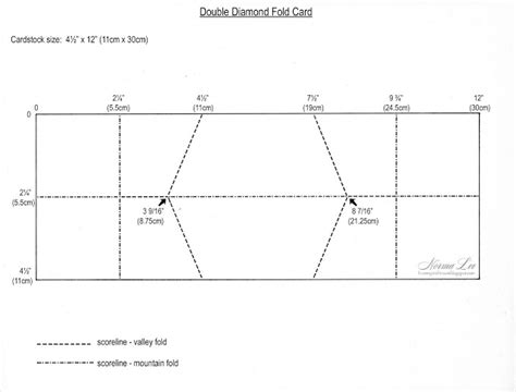 Folding Card Templates by From My Craft Room Fold Card Template